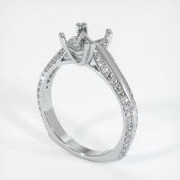 18K White Gold Pave Diamond Ring Setting - JS519W18