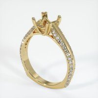 14K Yellow Gold Pave Diamond Ring Setting - JS519Y14
