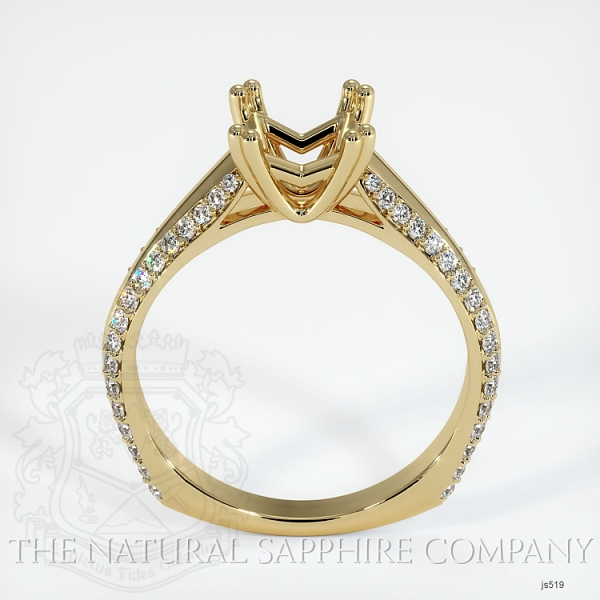 4 Prong Pave Ring Setting JS519 Image 4