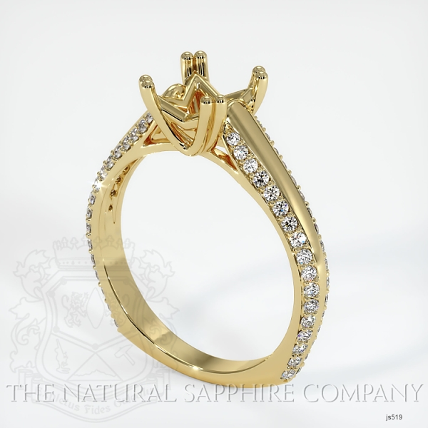4 Prong Pave Ring Setting JS519 Image