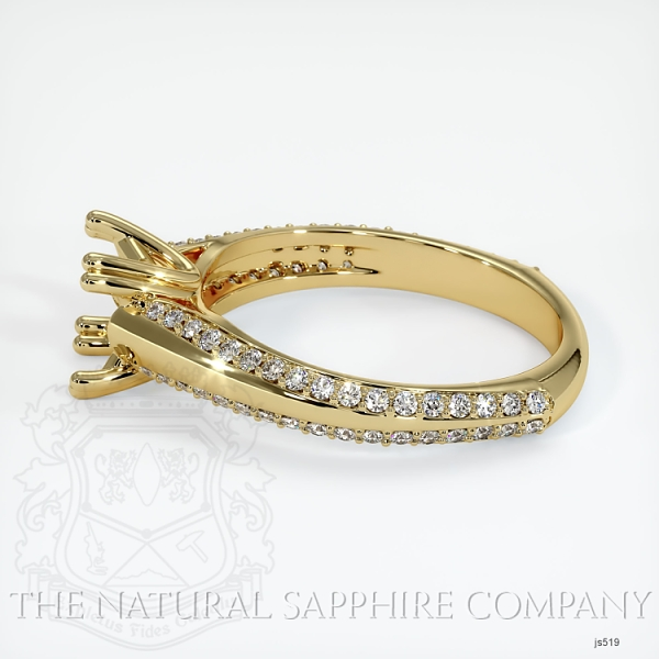 4 Prong Pave Ring Setting JS519 Image 3