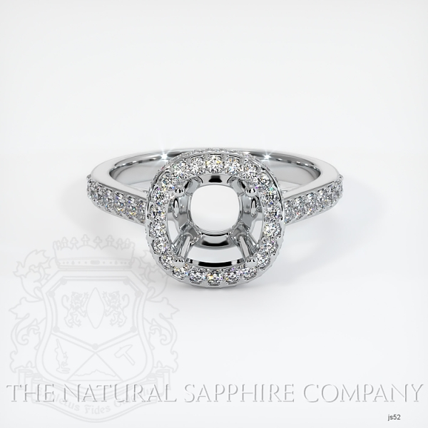 Pave Diamond Halo Ring Setting JS52 Image 2