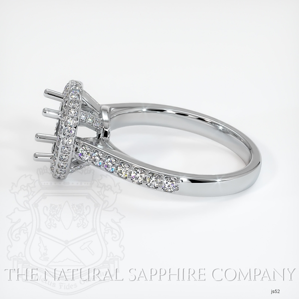 Pave Diamond Halo Ring Setting JS52 Image 3