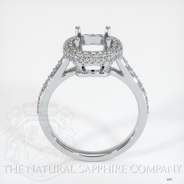 Pave Diamond Halo Ring Setting JS52 Image 4