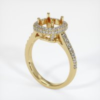 14K Yellow Gold Pave Diamond Ring Setting - JS52Y14