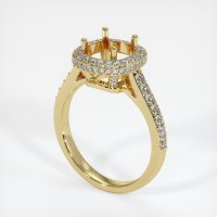 18K Yellow Gold Pave Diamond Ring Setting - JS52Y18