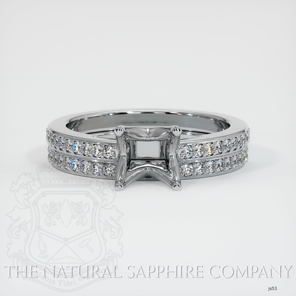 4 Prong Solitaire Wedding Set With Pave Diamonds JS53 Image 2