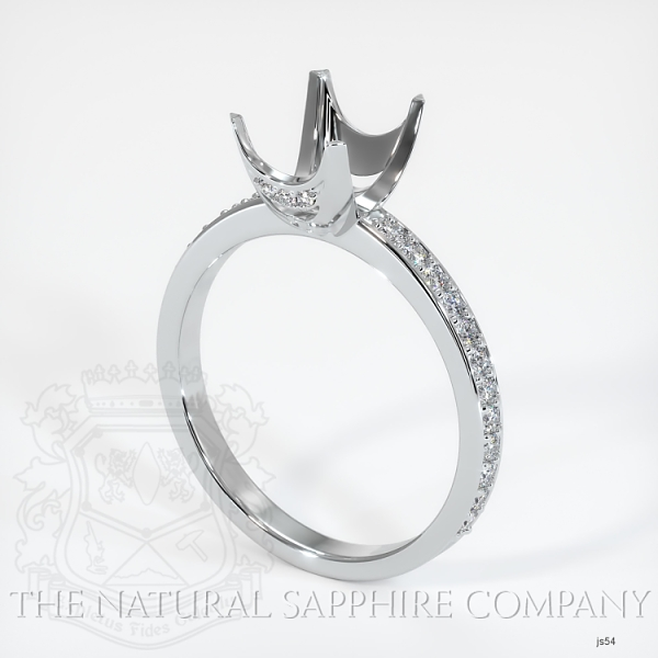 4 Prong Solitaire Setting With Pave Band & Basket JS54 Image