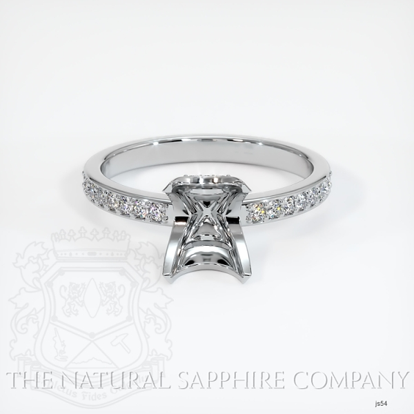 4 Prong Solitaire Setting With Pave Band & Basket JS54 Image 2