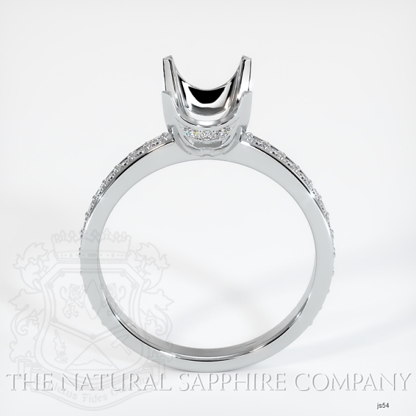 4 Prong Solitaire Setting With Pave Band & Basket JS54 Image 4