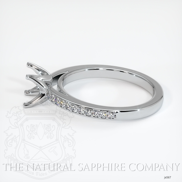 4 Prong Solitaire Setting With Pave Diamonds JS567 Image 3