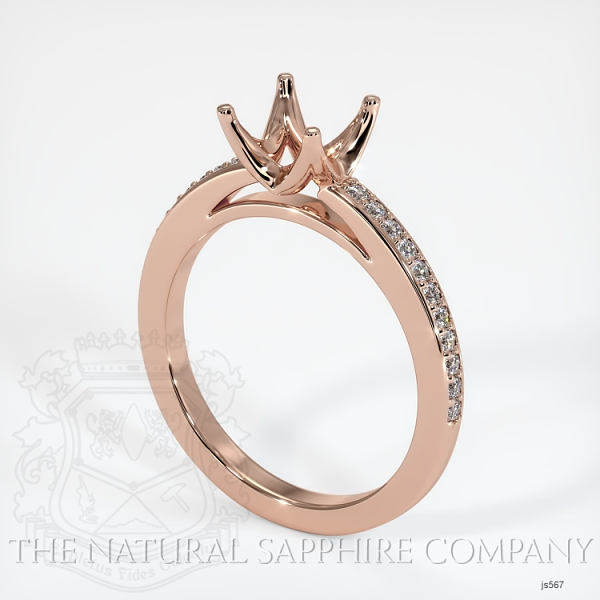 4 Prong Solitaire Setting With Pave Diamonds JS567 Image