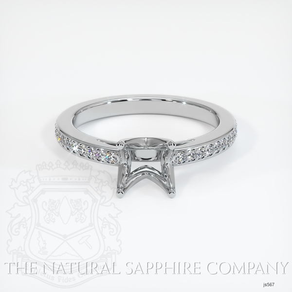 4 Prong Solitaire Setting With Pave Diamonds JS567 Image 2