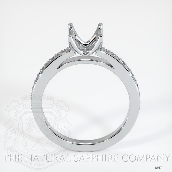 4 Prong Solitaire Setting With Pave Diamonds JS567 Image 4
