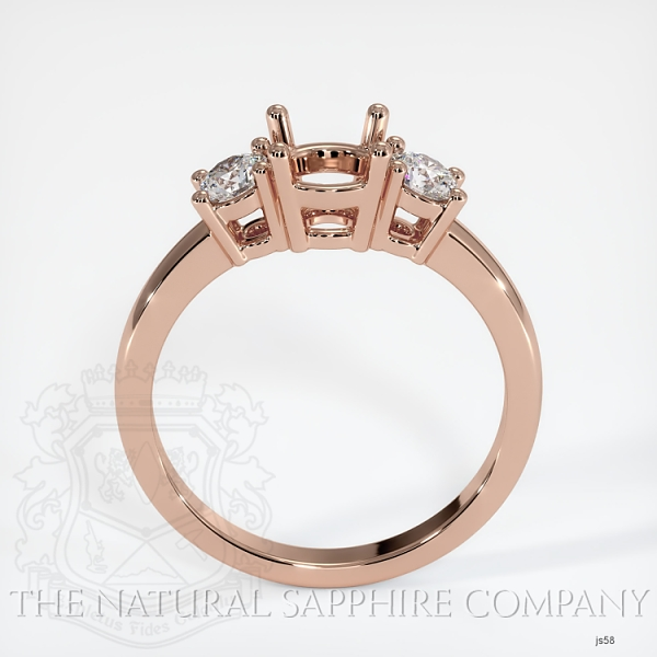 3 Stone Ring Setting - Round Diamonds JS58 Image 4