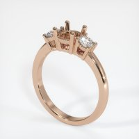 18K Rose Gold Ring Setting - JS58R18