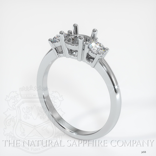 3 Stone Ring Setting - Round Diamonds JS58 Image