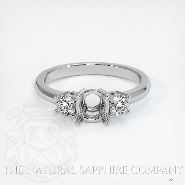 3 Stone Ring Setting - Round Diamonds JS58 Image 2