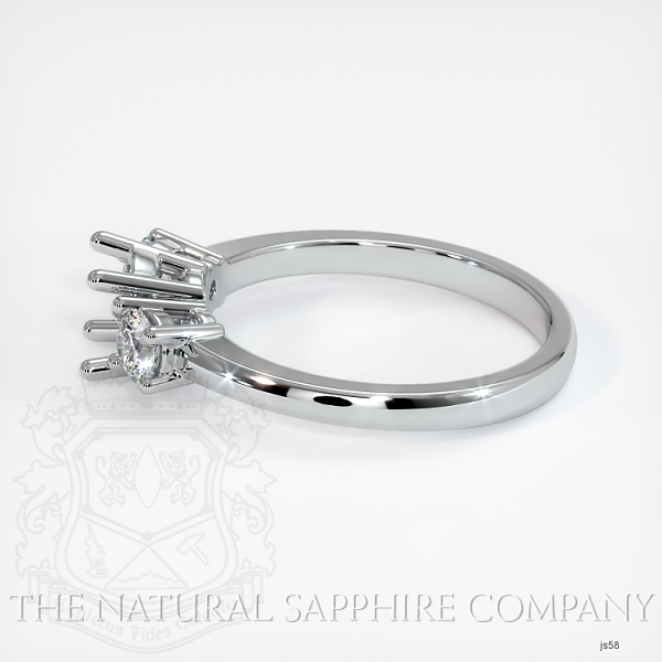 3 Stone Ring Setting - Round Diamonds JS58 Image 3