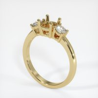 14K Yellow Gold Ring Setting - JS58Y14
