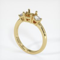 18K Yellow Gold Ring Setting - JS58Y18