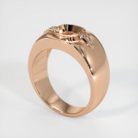 18K Rose Gold Ring Setting - JS591R18