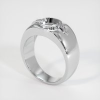 14K White Gold Ring Setting - JS591W14
