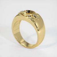 14K Yellow Gold Ring Setting - JS591Y14