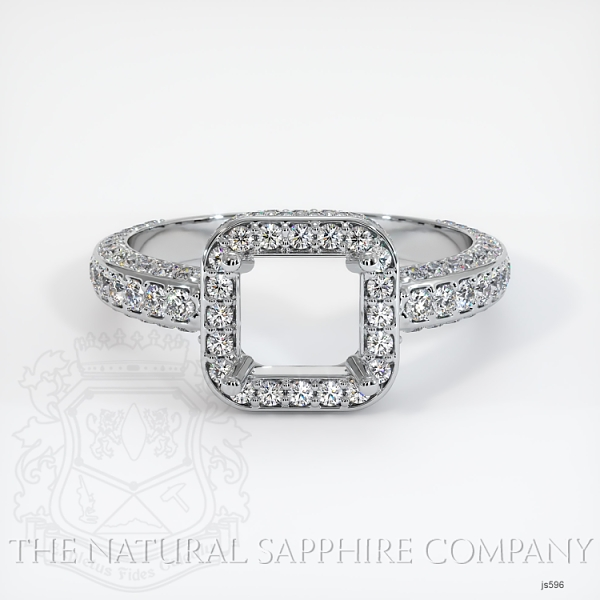 4 Prong Pave Ring Setting JS596 Image 2