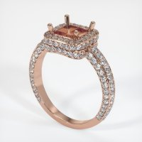 14K Rose Gold Pave Diamond Ring Setting - JS596R14