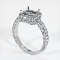 14K White Gold Pave Diamond Ring Setting - JS596W14
