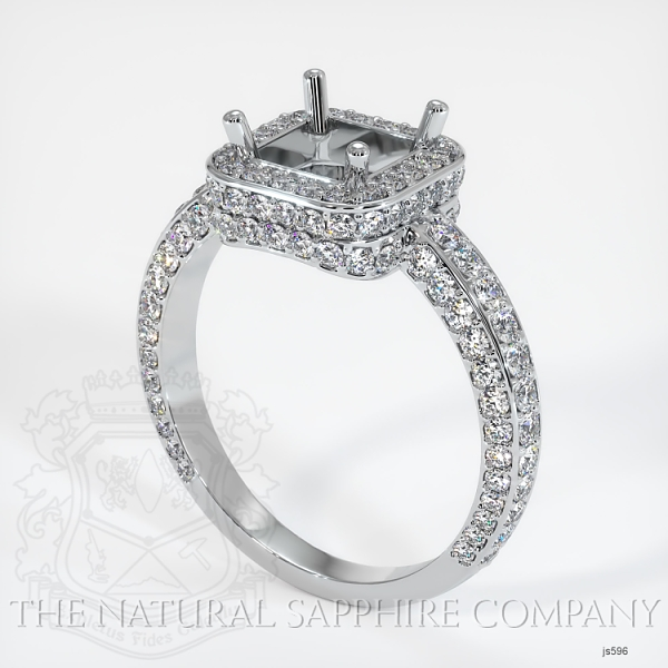 4 Prong Pave Ring Setting JS596 Image
