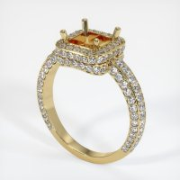14K Yellow Gold Pave Diamond Ring Setting - JS596Y14