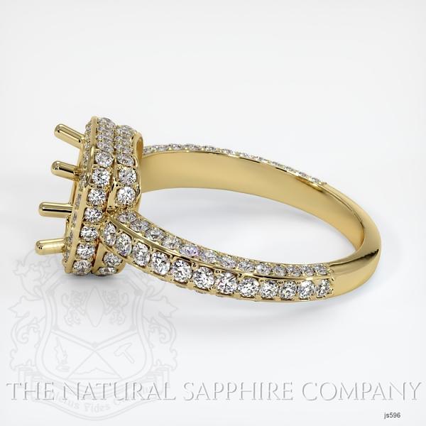 4 Prong Pave Ring Setting JS596 Image 3