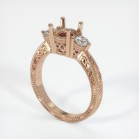 18K Rose Gold Ring Setting - JS60R18