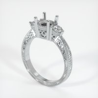 14K White Gold Ring Setting - JS60W14