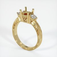 14K Yellow Gold Ring Setting - JS60Y14