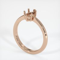18K Rose Gold Ring Setting - JS600R18