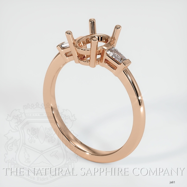 3 Stone Ring Setting - Tapered Baguette Diamonds JS61 Image