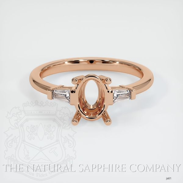 3 Stone Ring Setting - Tapered Baguette Diamonds JS61 Image 2