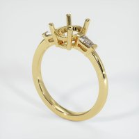 18K Yellow Gold Ring Setting - JS61Y18