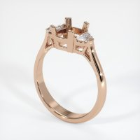 18K Rose Gold Ring Setting - JS63R18