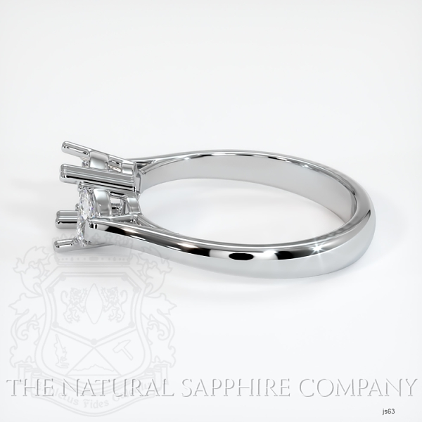 Double Prong 3 Stone Ring Setting - Half Moon Diamonds JS63 Image 3