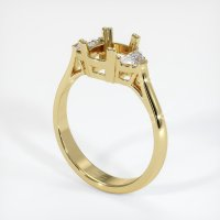 18K Yellow Gold Ring Setting - JS63Y18