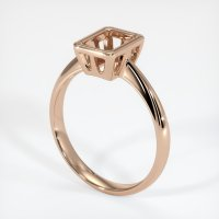 18K Rose Gold Ring Setting - JS631R18