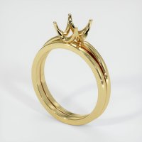 18K Yellow Gold Ring Setting - JS638Y18