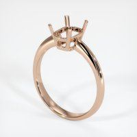 18K Rose Gold Ring Setting - JS639R18