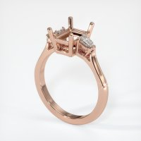 14K Rose Gold Ring Setting - JS64R14