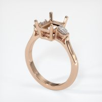 18K Rose Gold Ring Setting - JS64R18