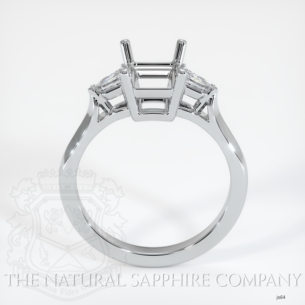 3 Stone Ring Setting - Tapered Bullet Diamonds JS64 Image 4